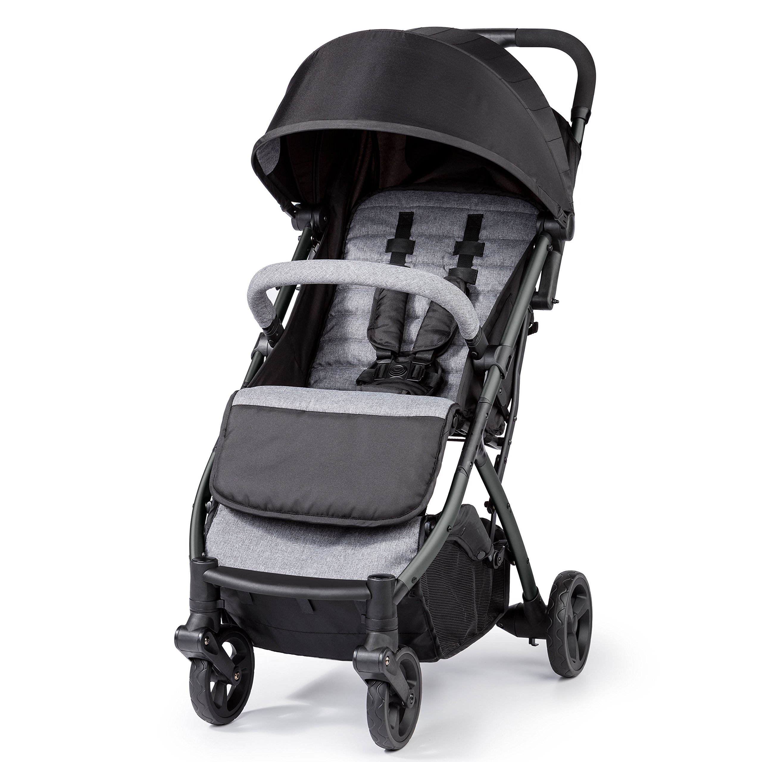Summer Infant 3DPac Stroller, Lightweight and Compact Carseat Adaptable Design with Convenient One-Hand Fold, Reclining Seat and Extra-Large Canopy