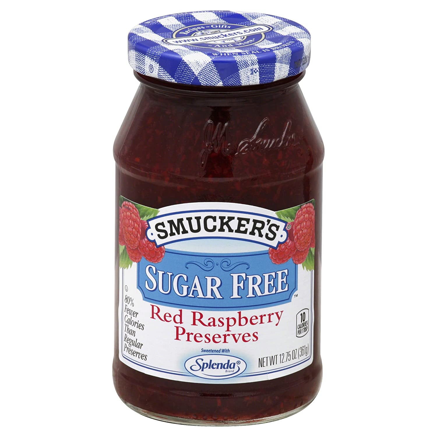 Smucker's Sugar Free Red Raspberry Preserves, 12.75 oz