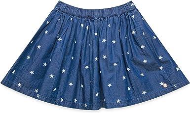 Esprit Kids RM2700307 Falda, Azul (Dark Indigo Denim 461), 116 ...