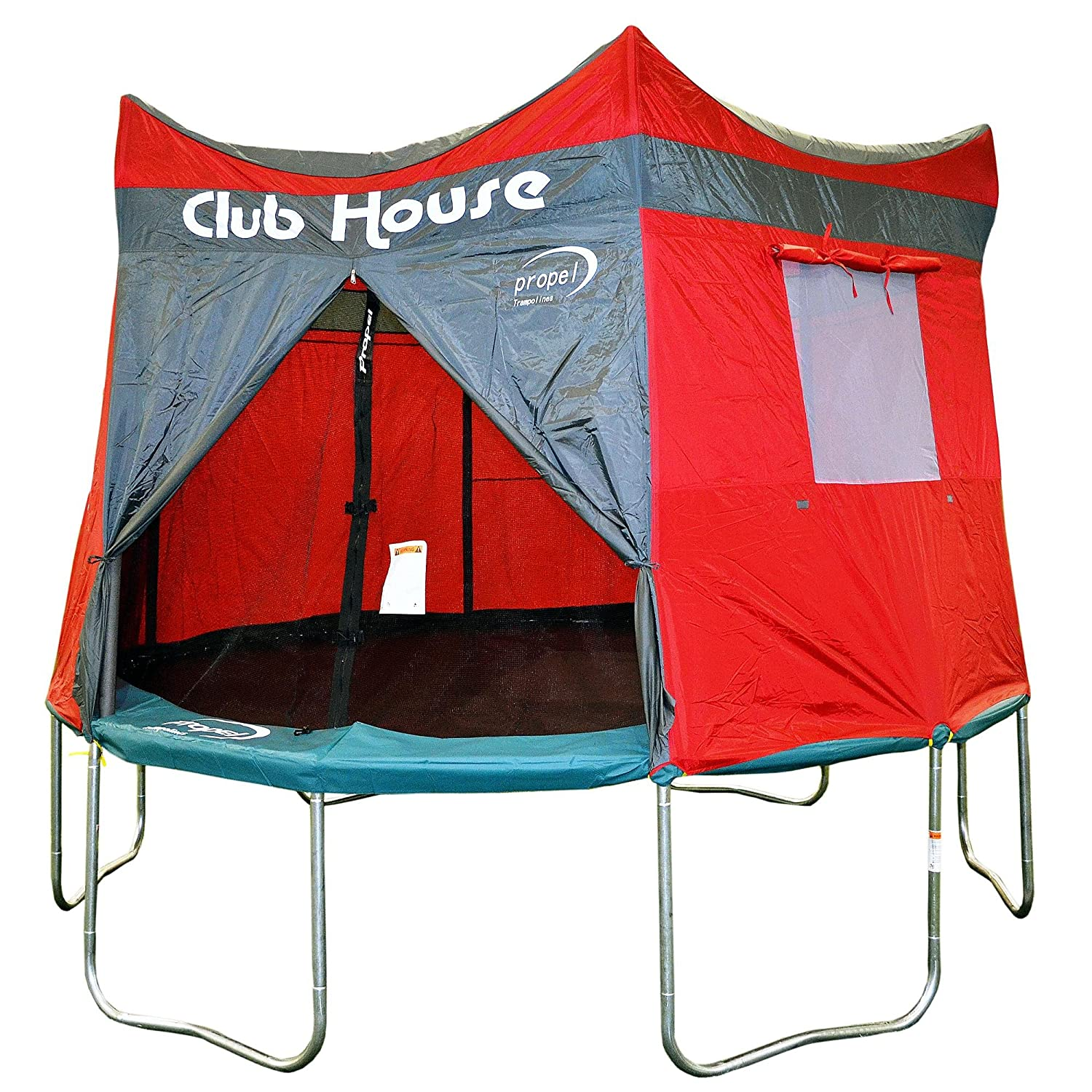Amazon.com Clubhouse Tent Accessory Kit for Propel 12u0027 Tr&oline with 6 pole enclosure - TENT ONLY Toys u0026 Games  sc 1 st  Amazon.com & Amazon.com: Clubhouse Tent Accessory Kit for Propel 12u0027 Trampoline ...