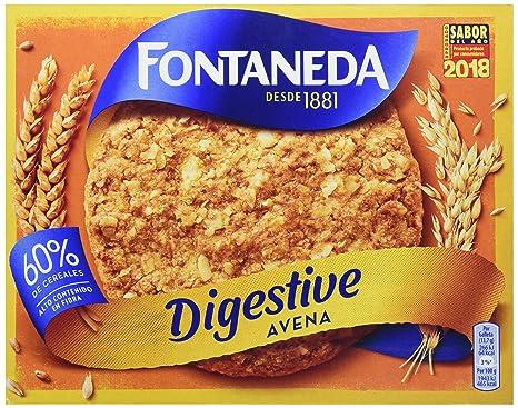 Fontaneda Digestive Galletas con Avena - 550 g: Amazon.es ...