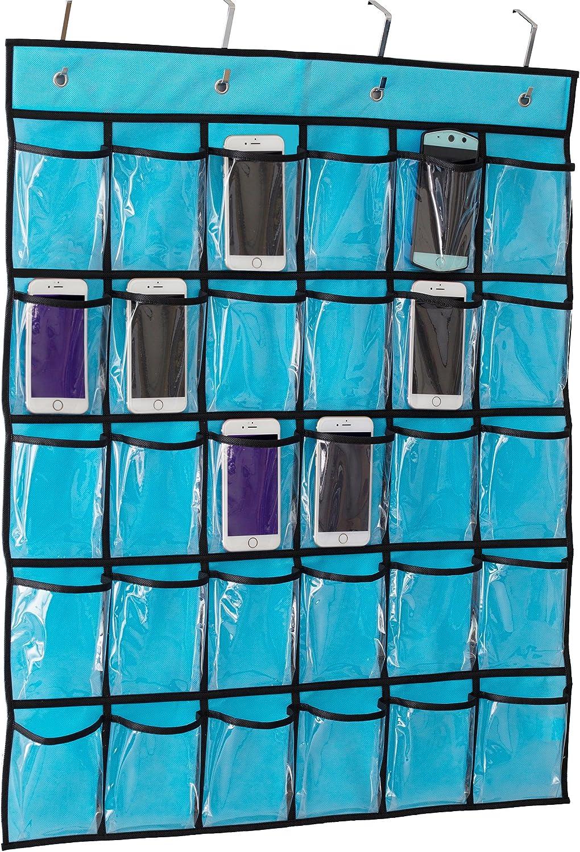 Kimbora Classroom Pocket Chart for Teacher Cell Phones Holder Door Hanging Calcu