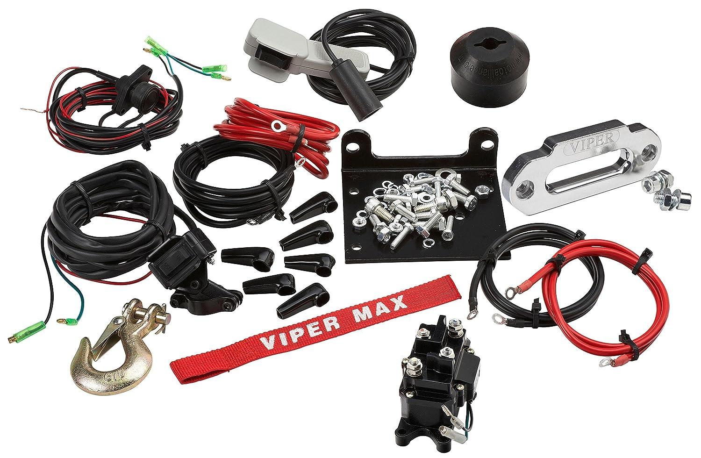 VIPER Max 2500lb ATV//UTV Winch Kit with 50 feet Steel Cable