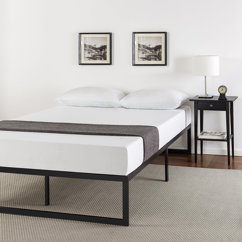 Zinus 14 Inch Metal Platform Bed Frame with Steel Slat Support, Mattress Foundation, Full