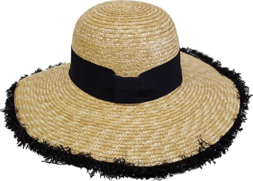 Women s Straw Braid Floppy Summer Beach Gardening or Sunning Hat ... 48b0e35e3c5
