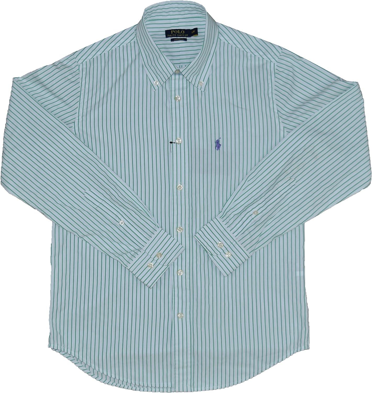 Ralph Lauren Ajuste Personalizado Plain, Rayas, Cuadros y Cuadros popelín Camisas para los Hombres