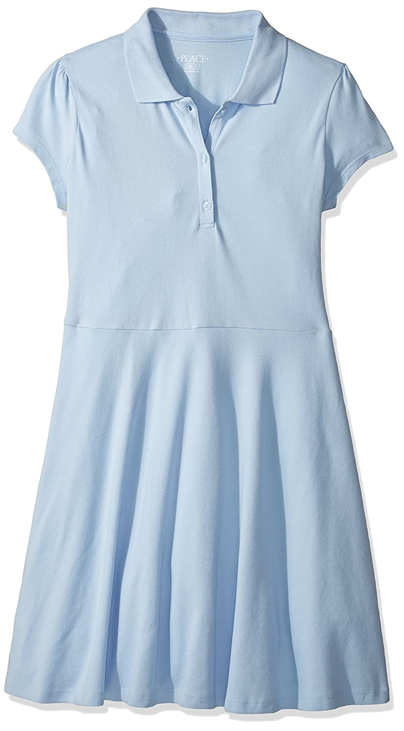 The Children's Place Girls' Uniform Short Sleeve Polo Dress