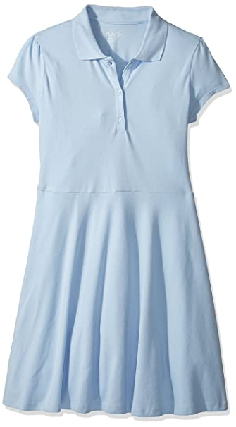 35af3112d6bf Amazon.com: The Children's Place Girls' Uniform Short Sleeve Polo Dress:  Clothing