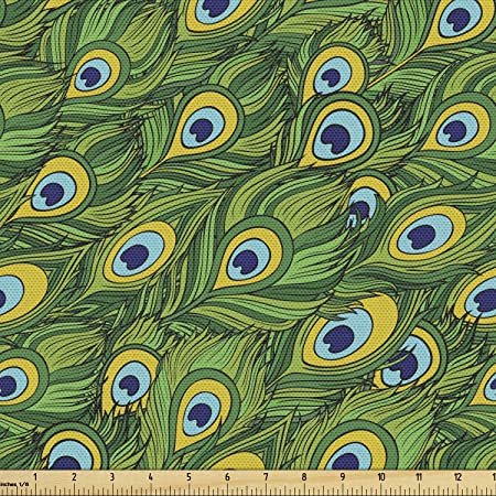 Yellow Tribal Upholstery Fabric by The Yard Purple Green Red