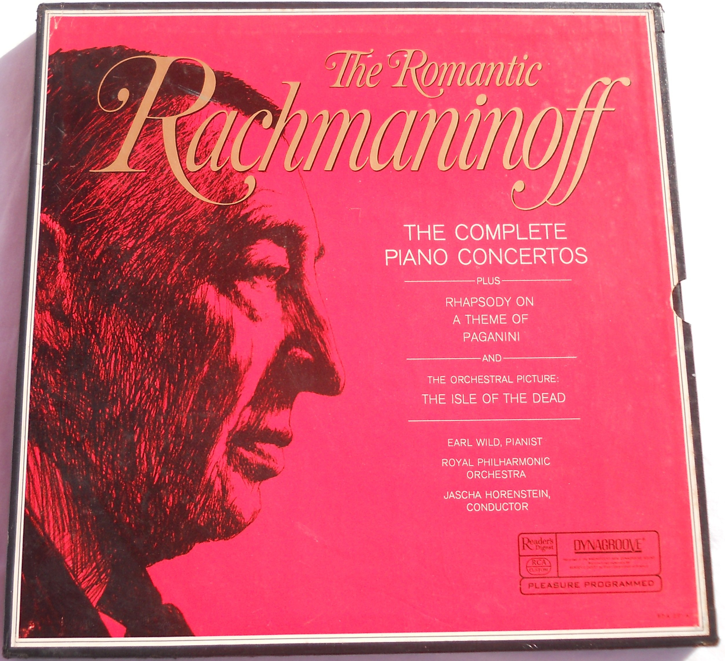 The Romantic Rachmaninoff: The Complete Piano Concertos / Rhapsody on a Theme of Paganini / The Isle of the Dead by Reader's Digest / RCA