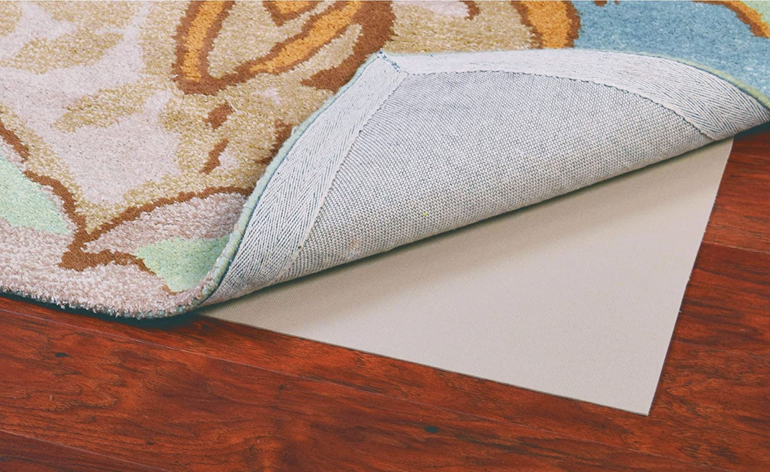 Grip-It Solid Cushioned Non-Slip Rug Pad for Rugs on Hard Surface Floors 10 by 14-Feet MSM Industries GRPSOL10X14