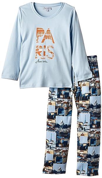 Arthur Paris-Pijama Niños, (Bleu) 10 años (Talla Fabricante: 10A