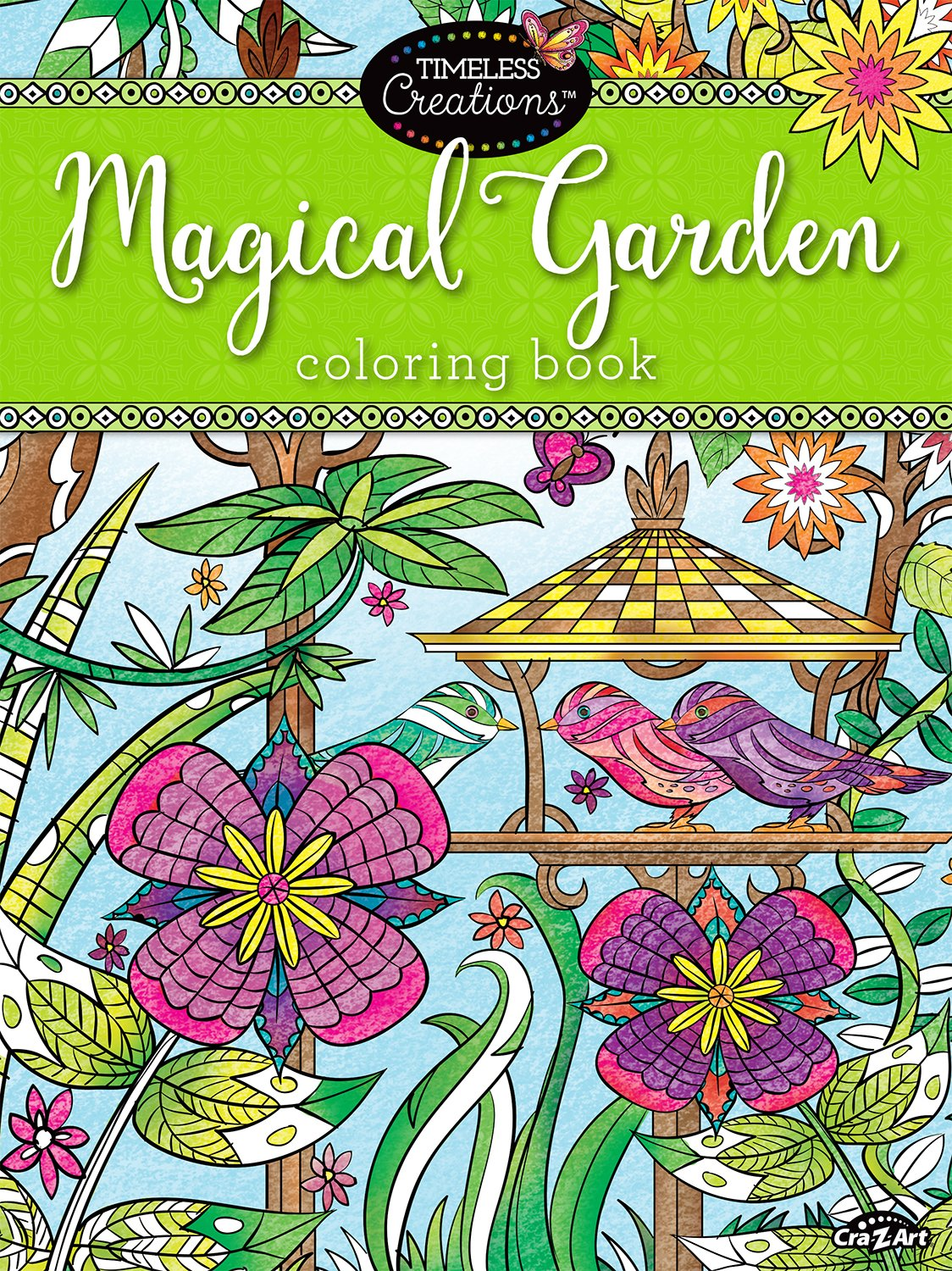 Amazon Cra Z Art Timeless Creations Adult Coloring Books Magical Gardens Crative Book 16270 6 Office Products