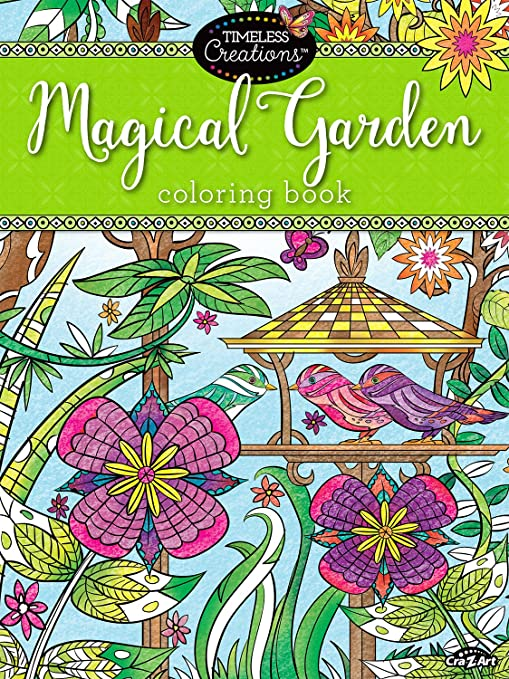 Cra Z Art Timeless Creations Adult Coloring Books Magical Gardens Crative Coloring Book 16270 6
