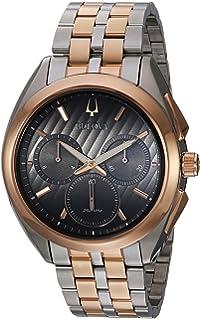 331c0d499 Bulova Men's 'Curv' Quartz Stainless Steel Casual Watch, Color:Two Tone (