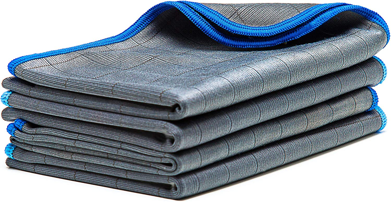 car microfiber cleaning cloth // waffle cloth 50x40cm LICARGO/® 2x Premium Carbon Microfiber Glass Cloths carbon fiber polishing cloth lint-free microfiber cloths for streak-free panes /& windows