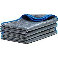 LICARGO® 4X Premium Carbon Microfiber Glasdoeken - 50x40cm - pluisvrije microvezeldoeken voor streeploze ruiten en ramen…