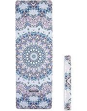 ZEROVIDA Colchoneta de Yoga 1.5mm Yoga Mat Caucho Natural 100% con Gamuza Ecológica Esterilla