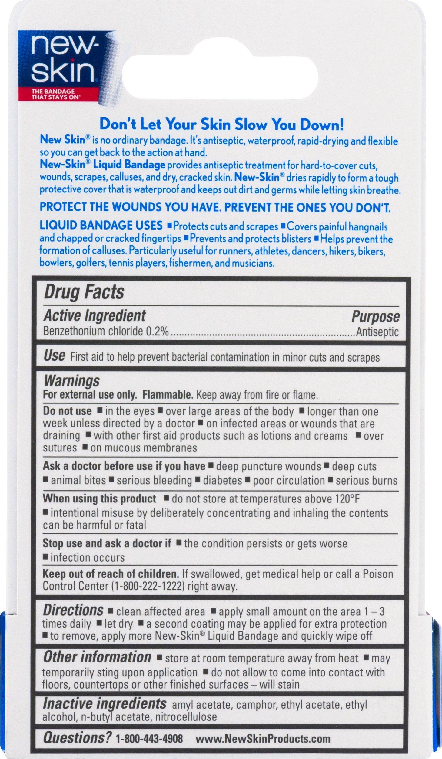 New-Skin Liquid Bandage - 0.3 oz, Pack of 6 by NEW-SKIN