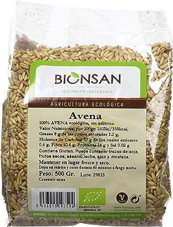 Oferta amazon: Bionsan Avena Sativa en Grano Ecológica - 6 Bolsas de 500 gr - Total: 3000 gr