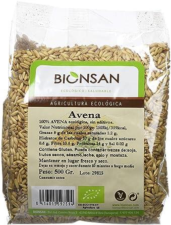 Bionsan Avena en Grano - 6 Paquetes de 500 gr - Total : 3000 gr: Amazon.es: Alimentación y bebidas