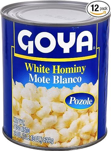 Goya Alimentos Color Blanco Hominy 29 Ounce 12 Unidades Amazon Com Grocery Gourmet Food