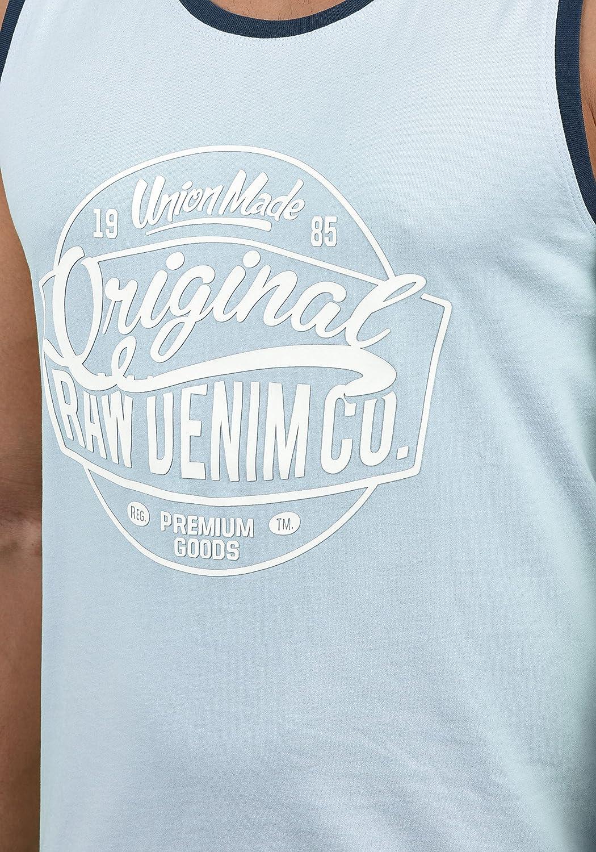 Blend Walex Herren Tank Top Sport-Shirt Muscle-Shirt mit Print
