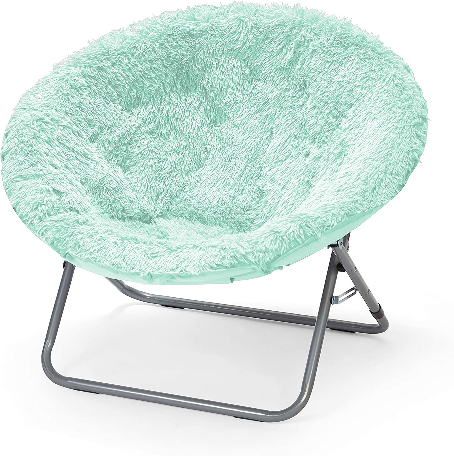 Urban Shop WK657555 Oversized Mongolian Saucer Chair, Mint