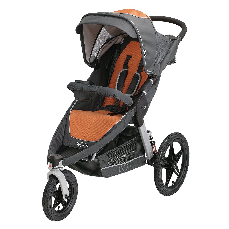 Amazon Graco Relay Click Connect Jogging Stroller Tangerine Baby