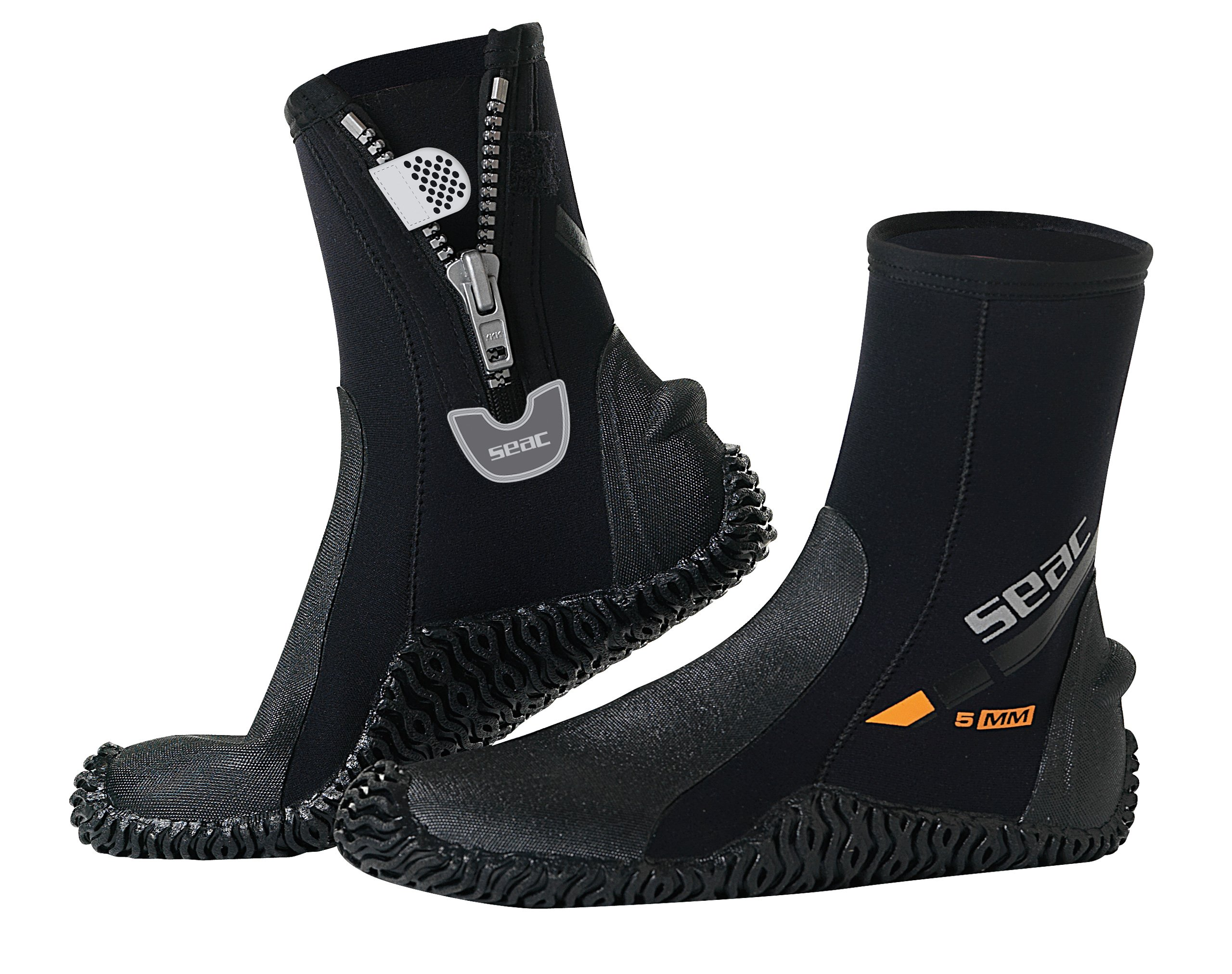 SEAC Basic HD 5mm Neoprene Scuba Boots with Side Zipper, XX-Large by SEAC