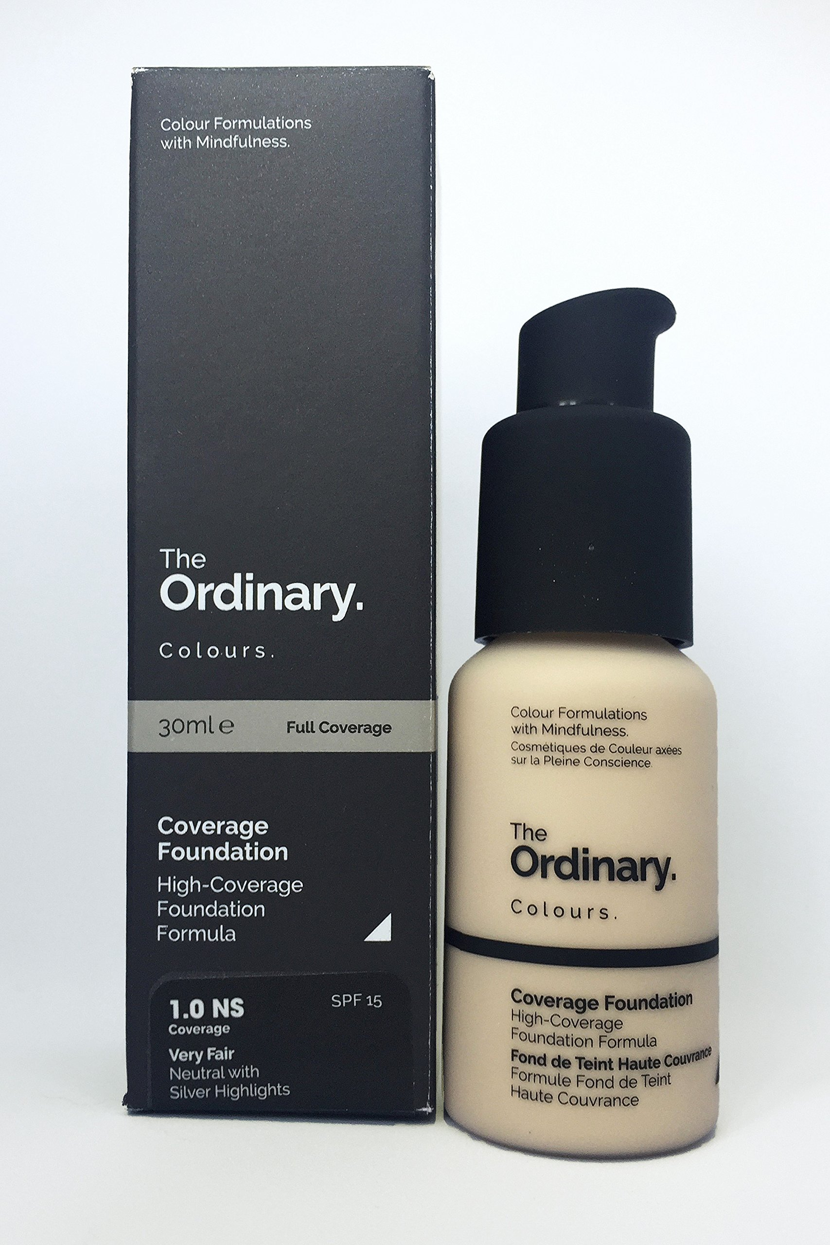 THE ORDINARY Coverage Foundation - SPF 15 30ml - 25,000 wait list - Full coverage foundation. (1.0 NS)