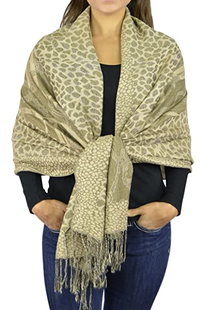b9aeffbb5 Pashmina Women Soft Wrap Shawl Animal Print Scarf By Belle Donne - Black