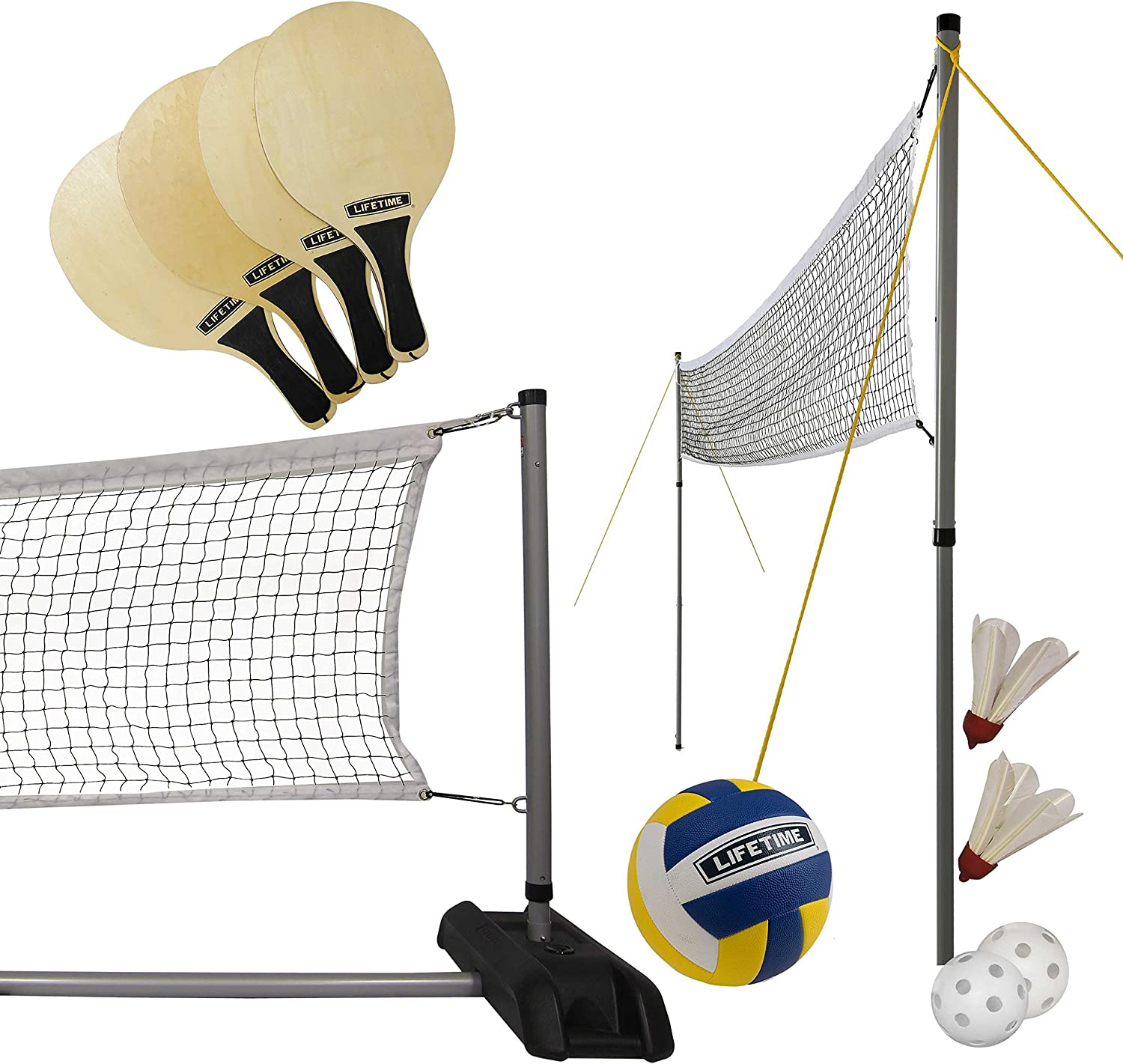 Lifetime Sports Net 3 en 1 Voleibol / Bádminton / Pickleball ...