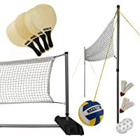 Portable Badminton Nets Foldable Ball Nets With Storage Bag Holders 3-Meter Portable Net Set For Outdoor Family Beach And Other Home Entertainment