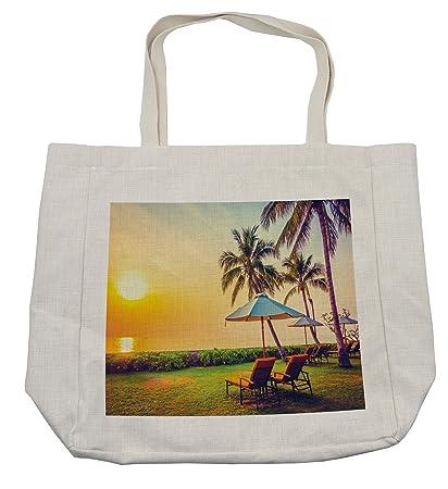 3207e2415db Amazon.com - Lunarable Seaside Shopping Bag