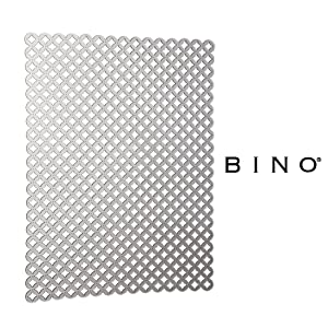 BINO Anti-Bacterial Kitchen Sink Protector Mat, Grey - Eco-Friendly - Mold and Mildew Resistant Kitchen Sink Mat with Quick Draining Design - Kitchen Sink Mats For Stainless Steel Sink