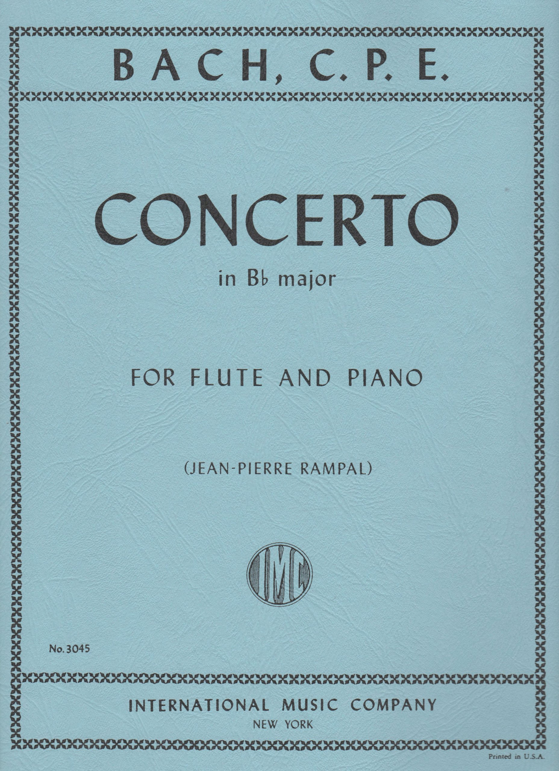 Bach, CPE: Concerto in Bb Major for Flute International Edition (IMC3045) ebook