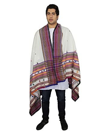 a946ea448cb Warm Woolen Shawl Wrap For Men Embroidered Handcrafted In India