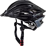 Tommaso Ombra Lightweight Cycling Bike Helmet Removable Visor Road & Mountain Bike Adjustable Fit 2 Sizes 4 Colors (Black,Matte Black,White,Titanium) Fully Certified Safety Protection Men Women Youth