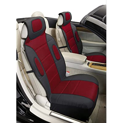 Eurow Sideless Sport Mesh Seat Cover (Red, 2-Pack): Automotive