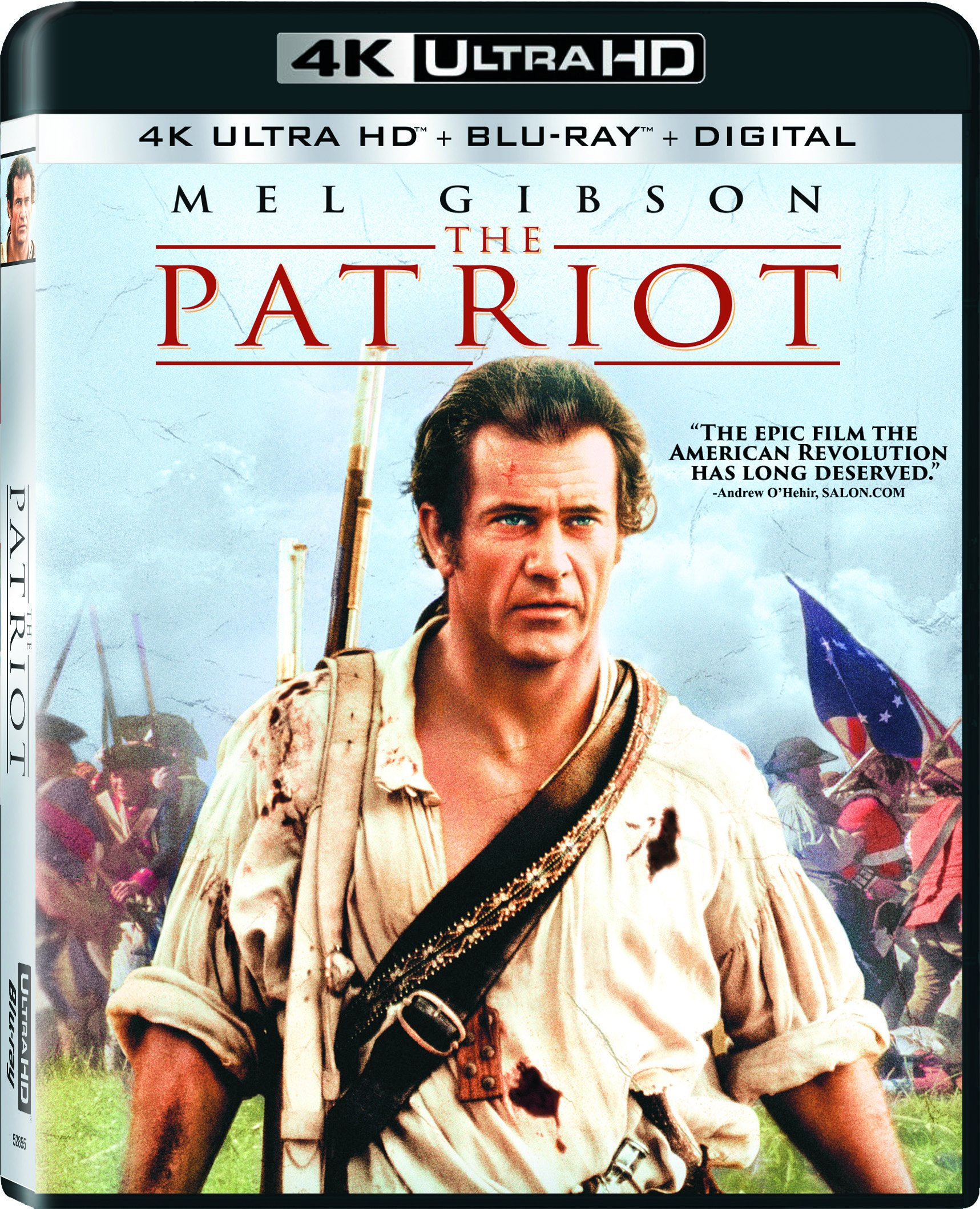 4K Blu-ray : The Patriot (With Blu-Ray, 4K Mastering, Digital Copy, Widescreen, 2 Pack)