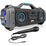 Wireless Portable Bluetooth Boombox Speaker - 800W Rechargeable Boom Box Speaker Portable Barrel Loud Stereo System with…
