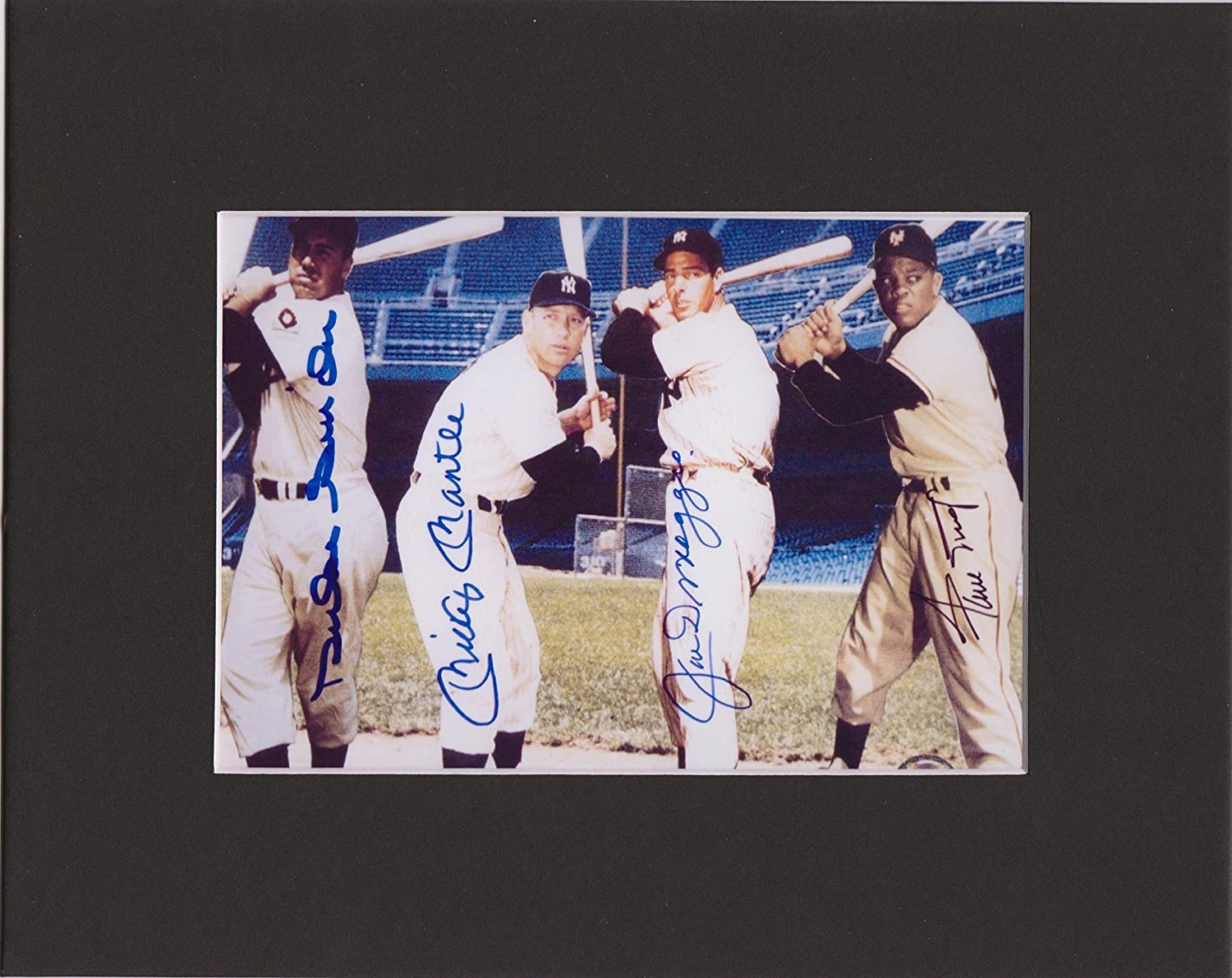 JOE DIMAGGIO /& DUKE SNIDER HOF 8 X 10 CUSTOM MATTED PHOTO AUTOGRAPH DISPLAY WILLIE MAYS MICKEY MANTLE