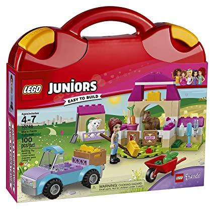 Amazon.com: LEGO Juniors Mia's Farm Suitcase 10746 Toy for 4-7-Year ...