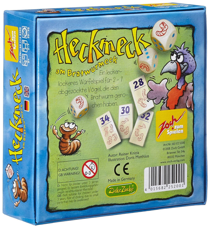 Zoch 601125200 - Heckmeck am Bratwurmeck, juego de fichas y dados ...