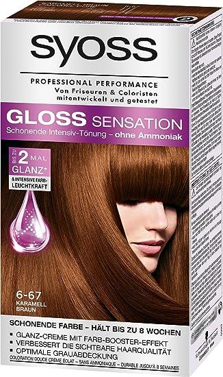 Syoss Gloss Sensation Intensiv Tönung 6 67 Karamell Braun 3er Pack