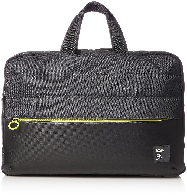 [ナヴァデザイン] Passenger Briefcase/Backpack PS069  black / green B01FFDZKYW