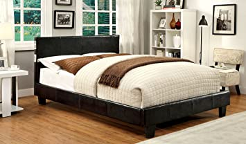 Furniture Of America Torrance Platform Bed With Bluetooth Speakers, Queen,  Espresso