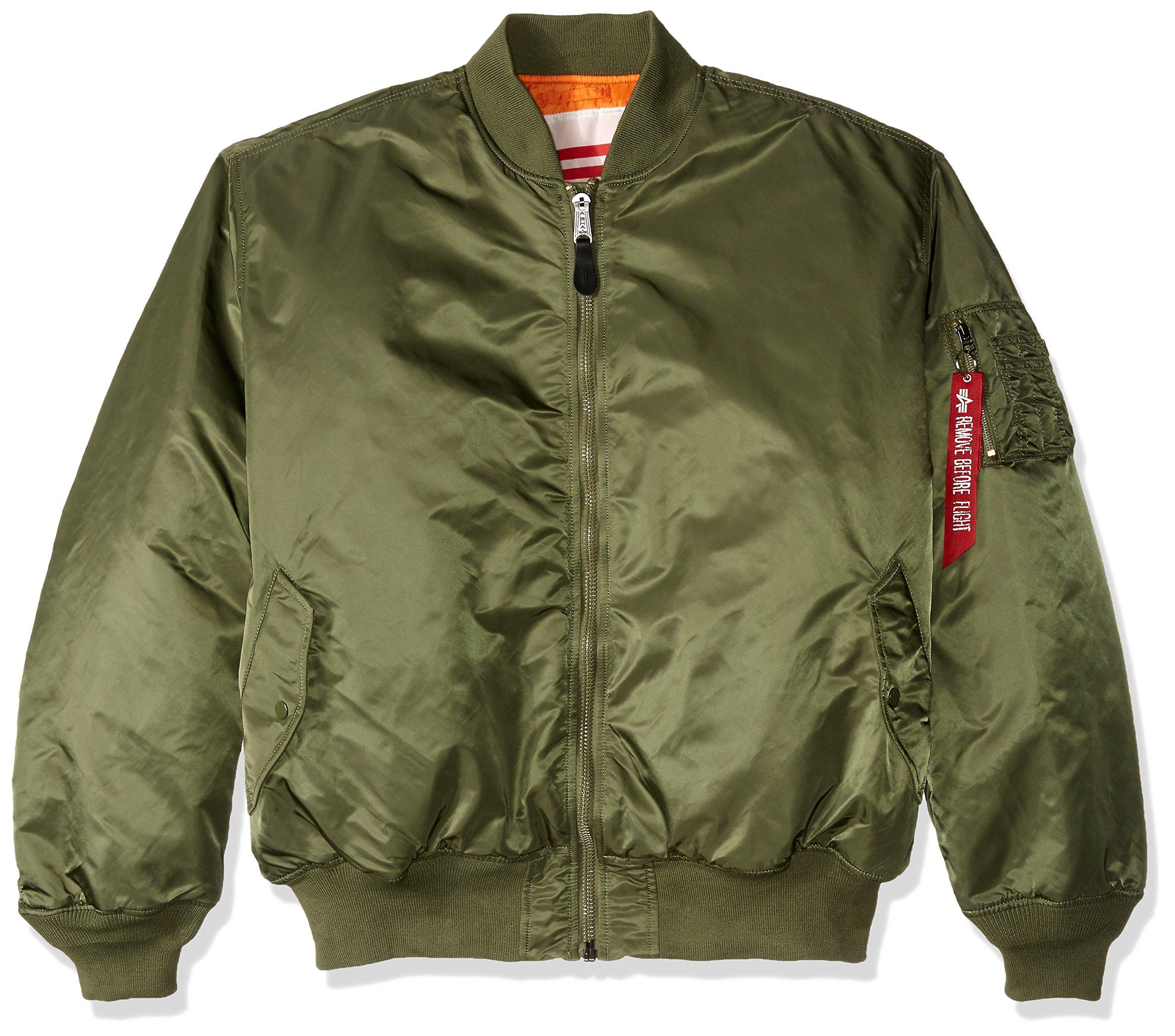 Alpha Industries Men's MA-1 Blood Chit Flight Bomber Jacket, Sage, 4X