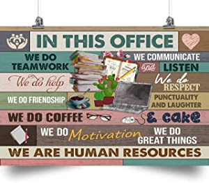 thanhlk Human Resources Poster - in This Office - we are Human Resources - Great Gift for Any Occasion: Birthday, Anniversary, Christmas. (12 x 18 inch)